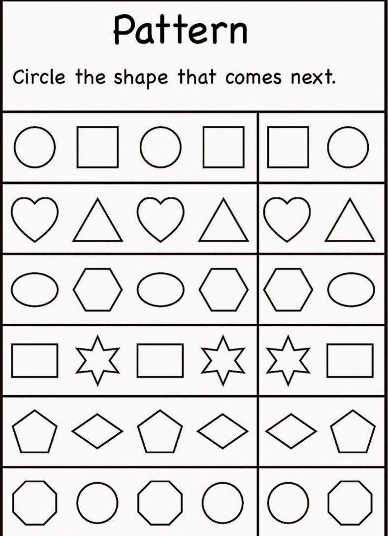 4 Year Old Worksheets Printable | Pattern Worksheet