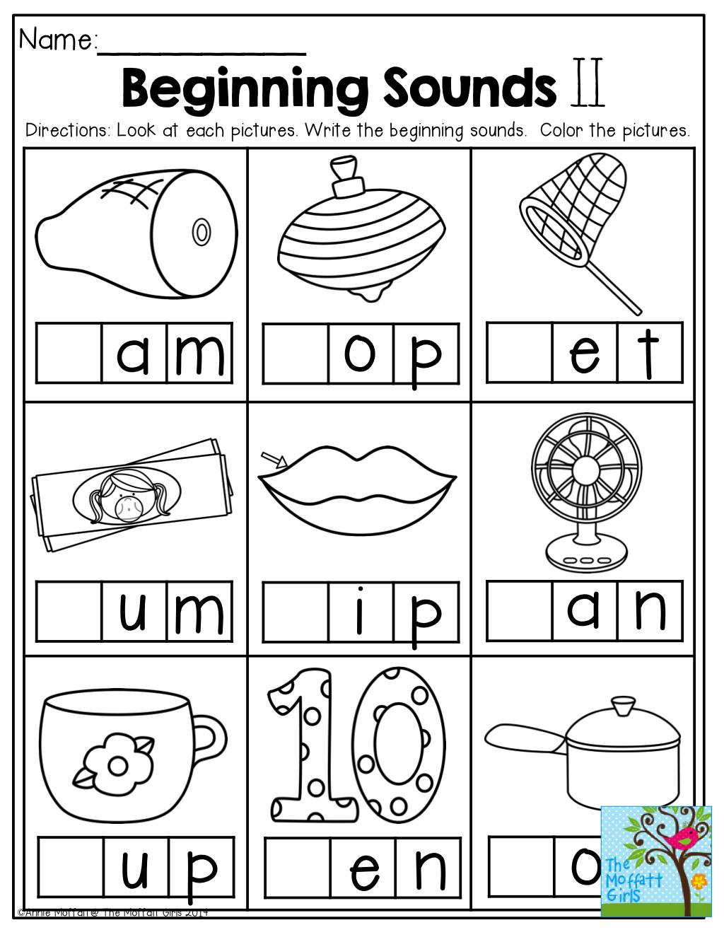 47 Preschool Worksheets Letters Beginning Sounds Photo