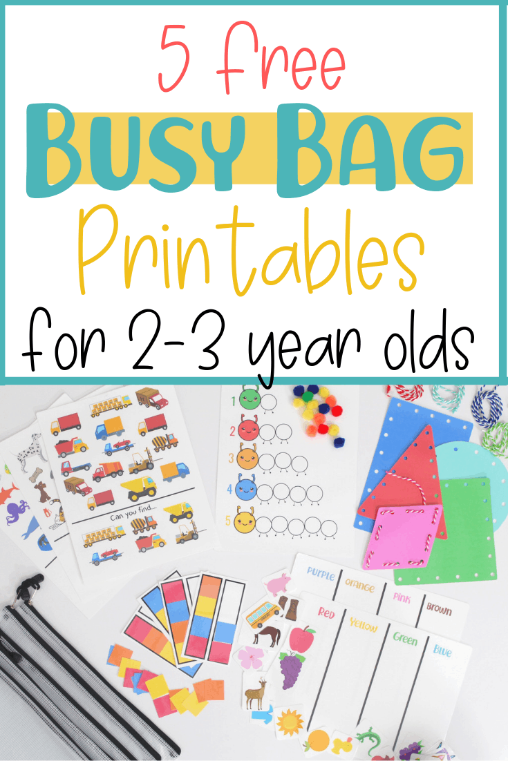 5 Free Busy Bag Printable Activities For Toddlers