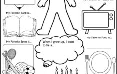 Preschool Worksheets All About Me
