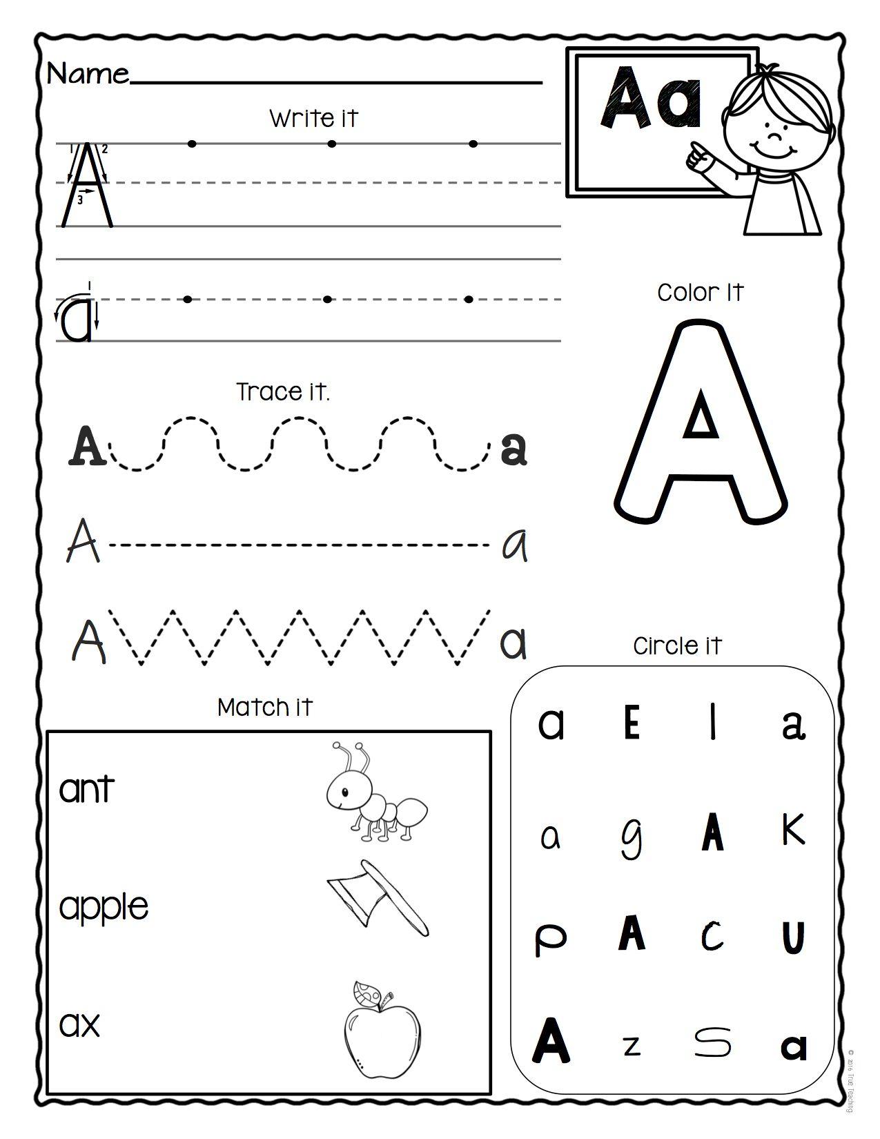 A-Z Letter Worksheets (Set 3)   Alphabet Worksheets