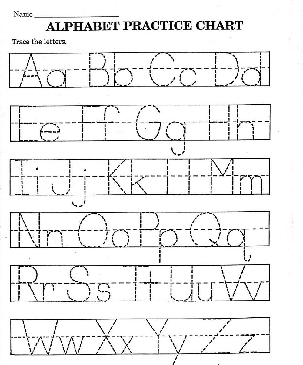 Abc Printable Worksheet For Kindergarten | Alphabet Practice