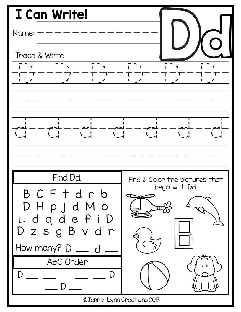Abc Worksheets   Kindergarten Abc Worksheets, Alphabet