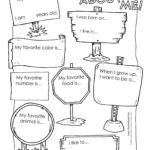 All About Me Preschool Template   6 Best Images Of All About