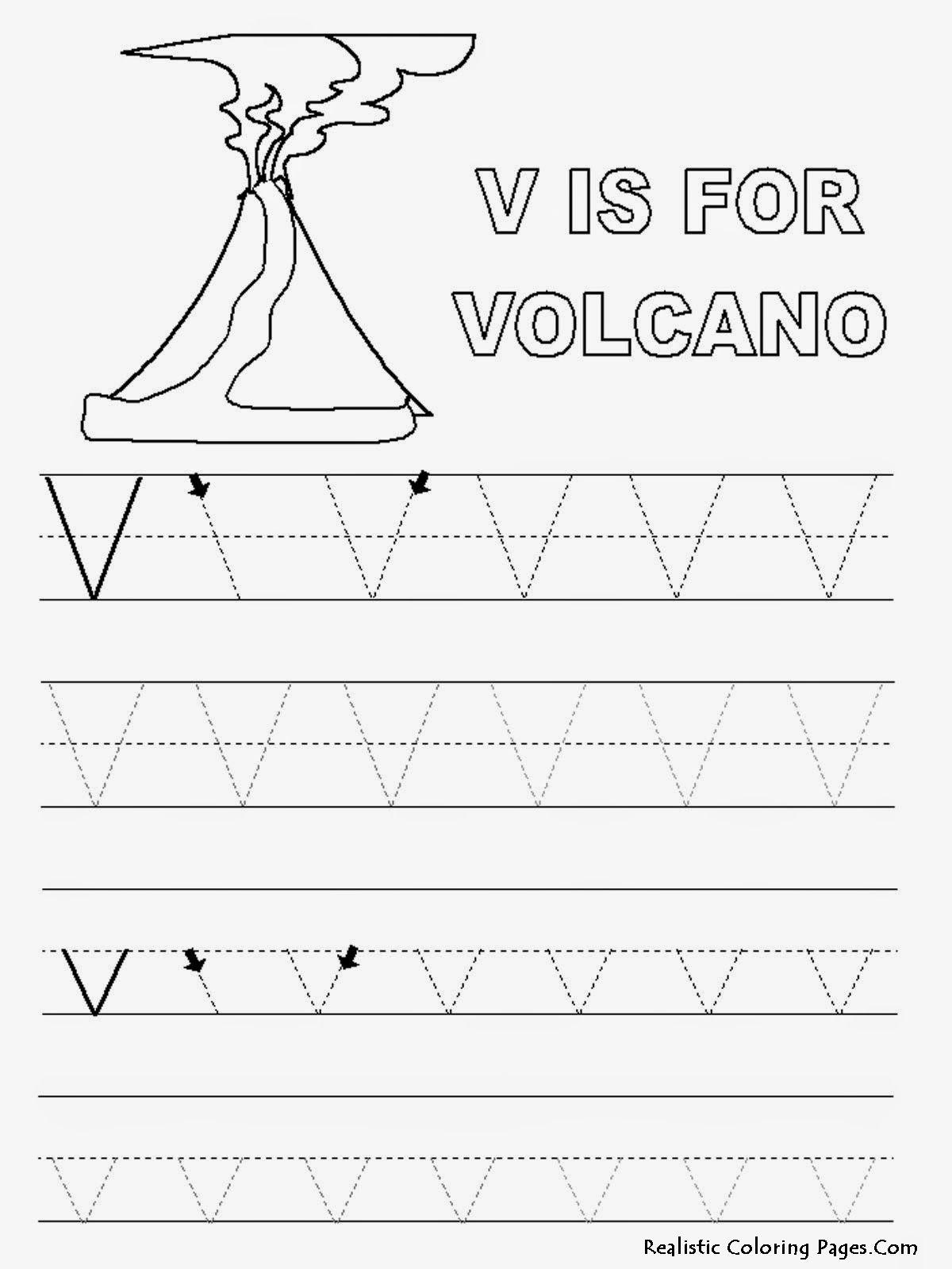 Alphabet-Tracer-Pages-V-Volcano (Jpeg Image, 1200 × 1600
