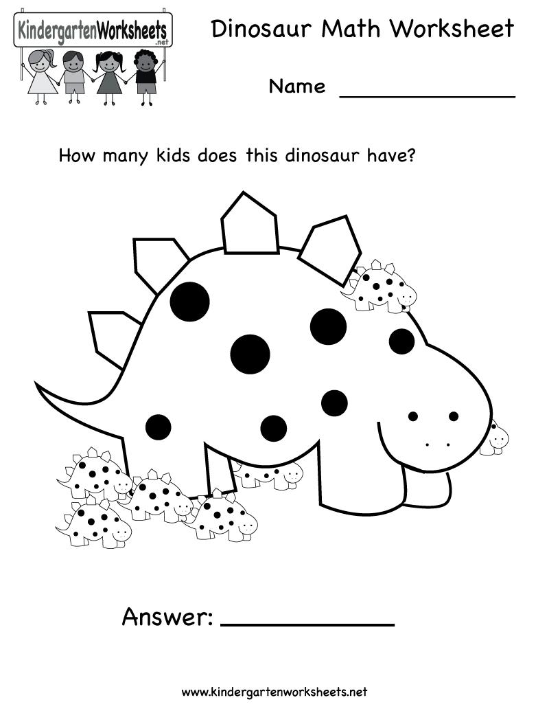 Best Images Of Printable Dinosaur Worksheets Preschool