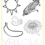 Best Photos Of Yellow Coloring Page Printable   Color Yellow