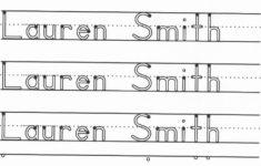 Free Custom Printable Name Tracing Worksheets