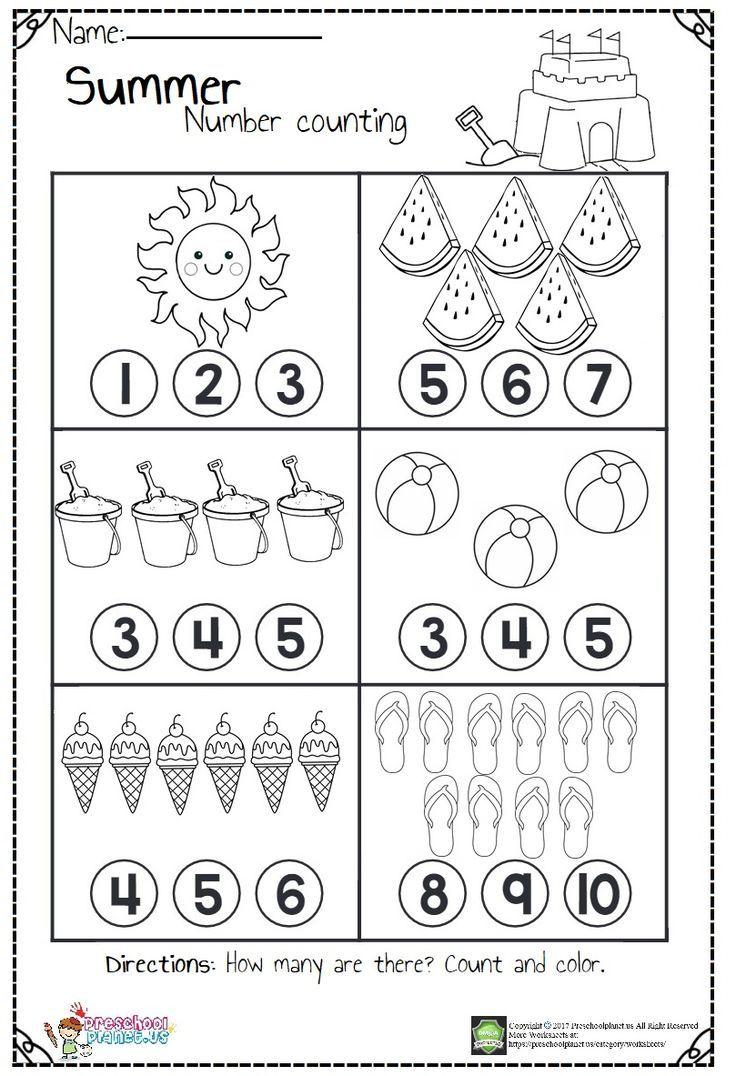 Counting Worksheets | Preschool Math Worksheets