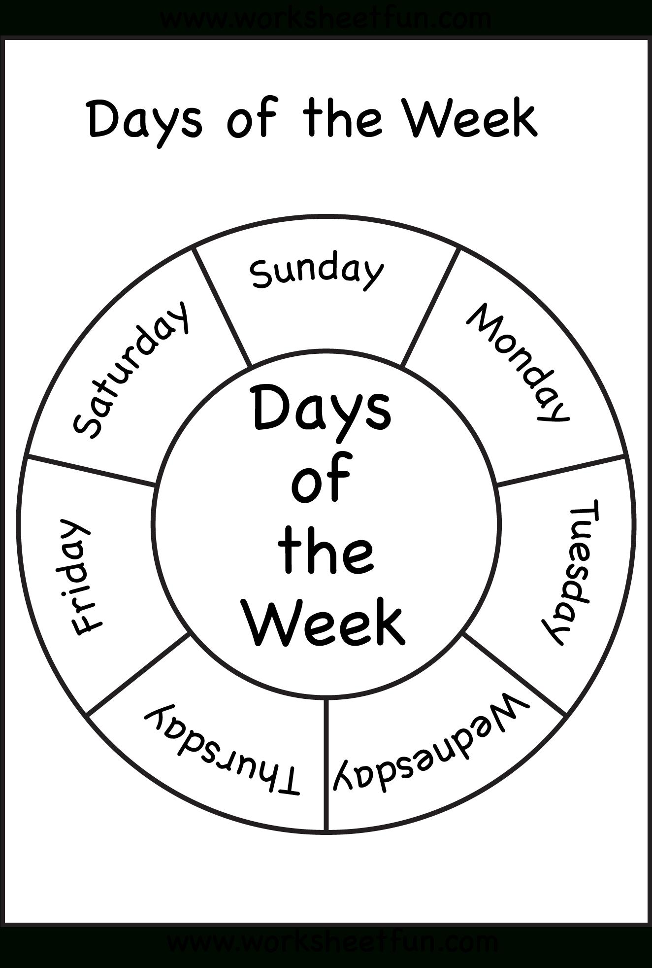Days Of The Week | Preschool Worksheets, English Worksheets