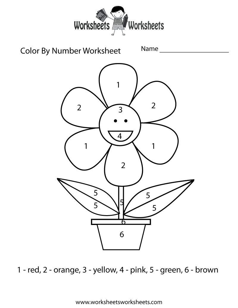 Easy-Color-By-Number-Worksheet-Printable | Number Worksheets