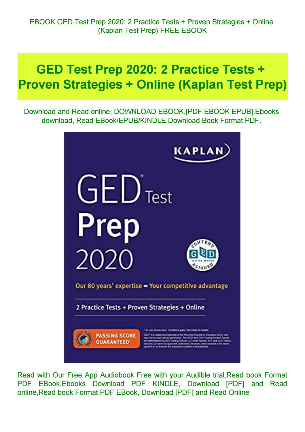 Ebook Ged Test Prep 2020 2 Practice Tests + Proven