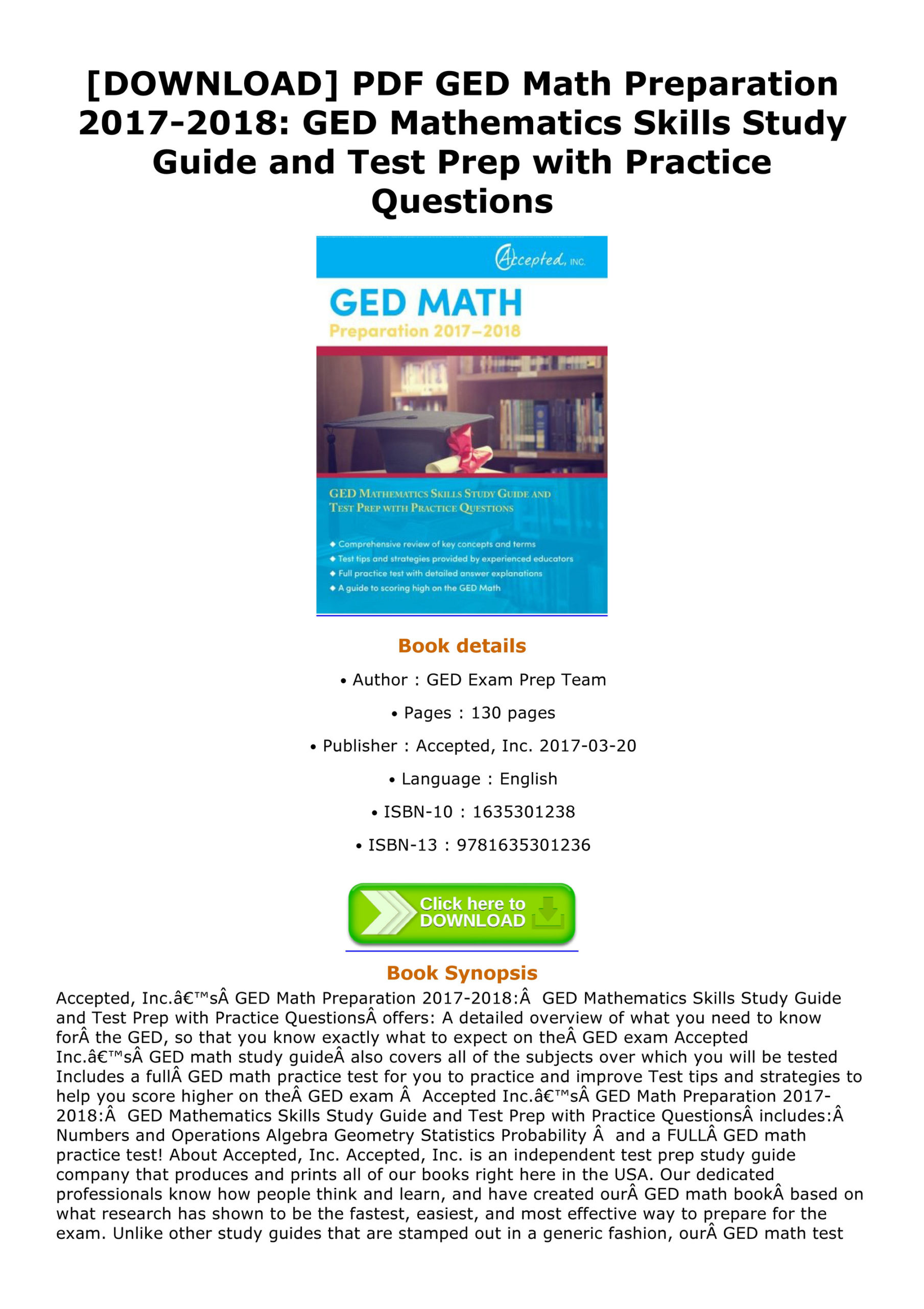 Education Book Free [Download] Odis - Download Pdf Ged Math