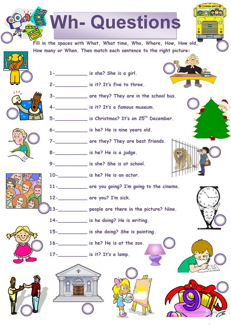 English Esl Wh-Questions Worksheets - Most Downloaded (59