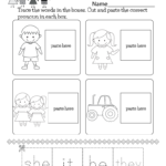 English Grammar Worksheet Free Kindergarten For Kids