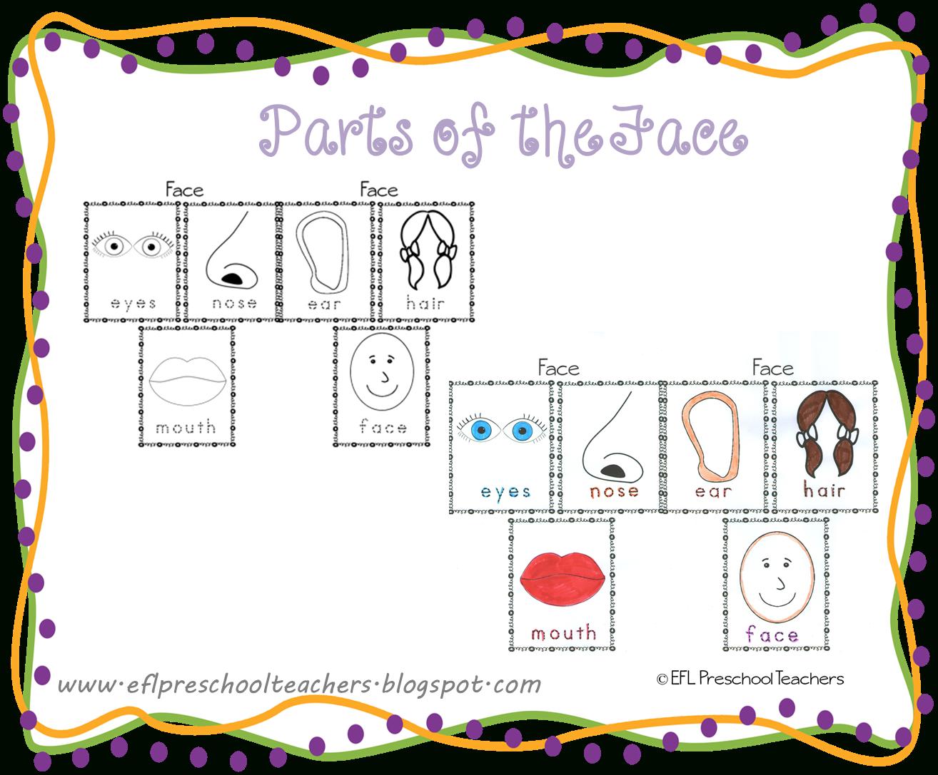 Esl/efl Preschool Teachers: Face Teaching Materials For The