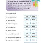 Family Reading Activities   Interactive Worksheet