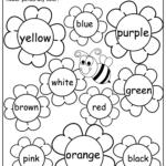 Flower Color Words Worksheet   Madebyteachers | Teaching