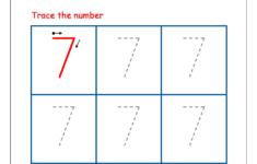 Number 7 Preschool Worksheets