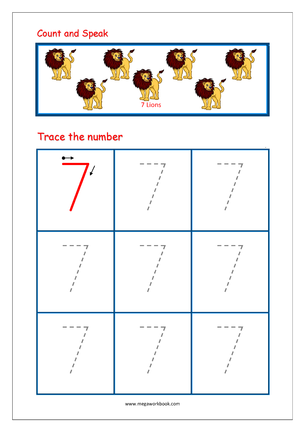 Formation Of Number 7 (13/9/20) - Lessons - Tes Teach
