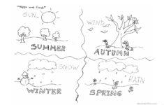 Preschool Worksheets Seasons