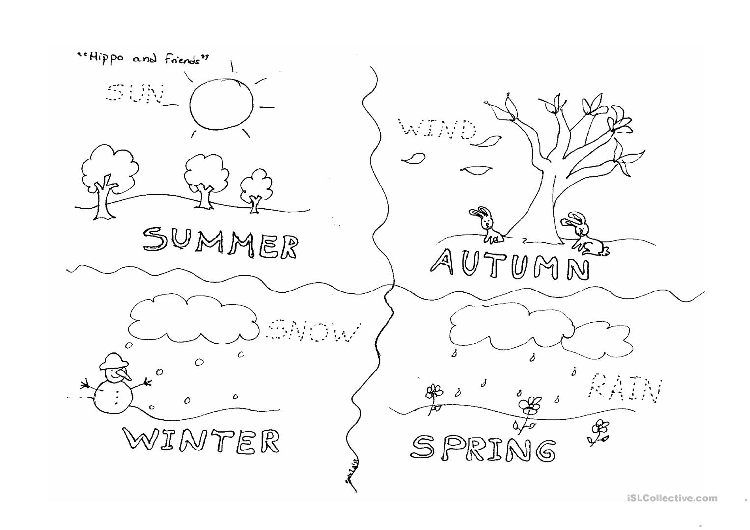Four Seasons English Esl Worksheets For Distance Learning