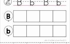 Preschool Worksheets Letter B