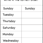 Free Days Of The Week Worksheets | English Lessons For Kids