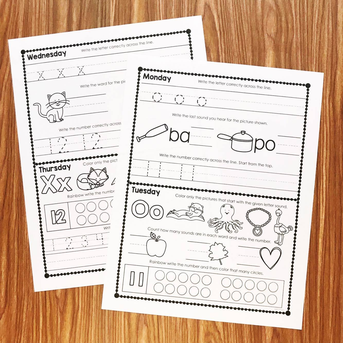 Free Kindergarten Homework - Simply Kinder