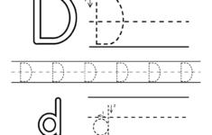 Free Letter D Alphabet Learning Worksheet For Preschool