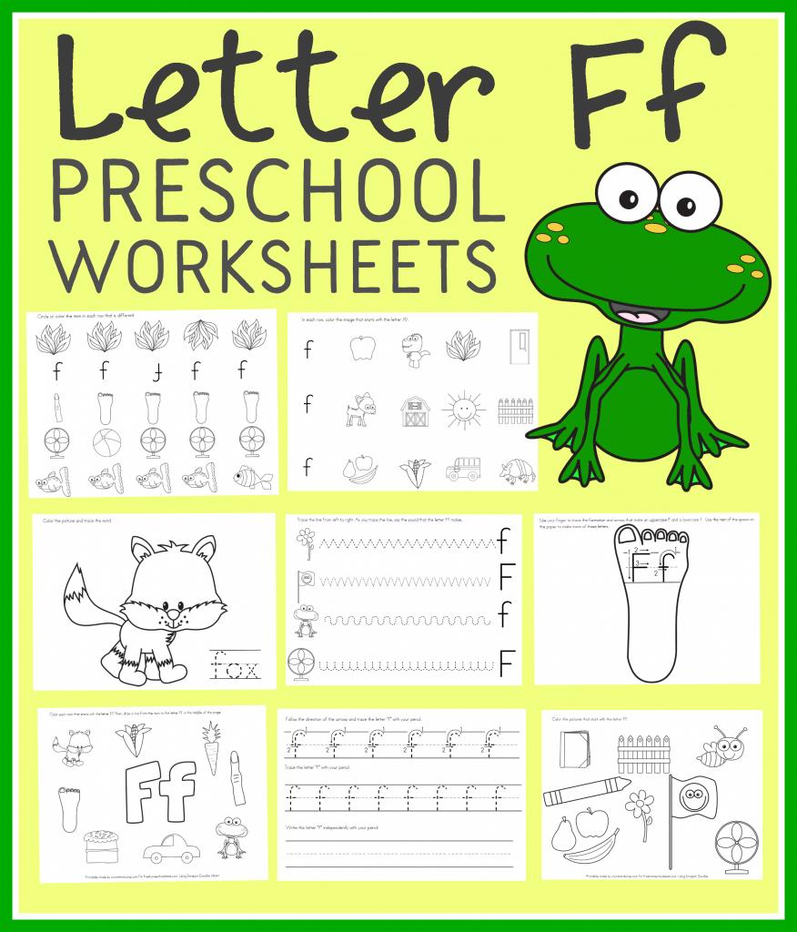 Free Letter F Preschool Worksheets (Instant Download)
