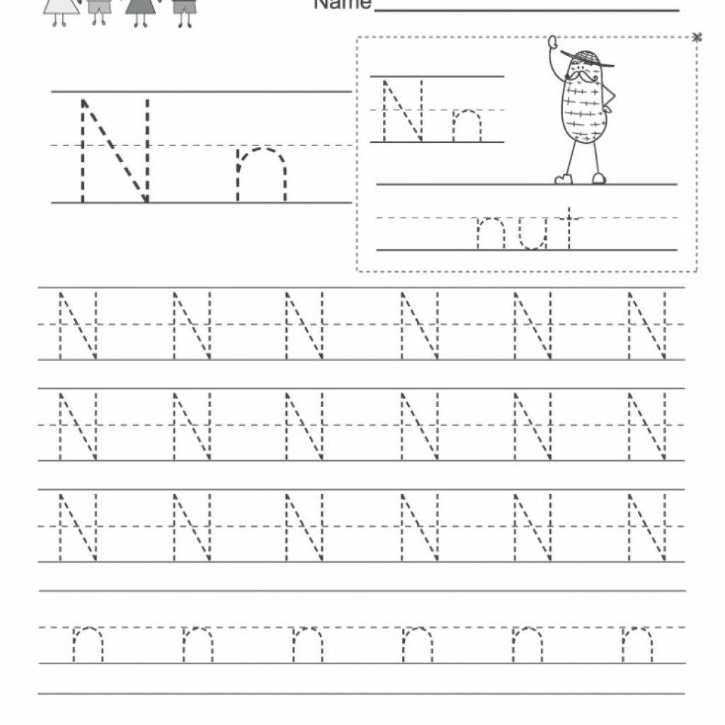 Free Letter N Worksheets Pictures - Alphabet Free Preschool