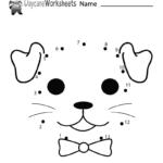 Free Preschool Dog Connect The Dots Worksheet   Dot