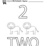 Free Preschool Number Two Learning Worksheet | Preschool