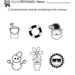 Free Preschool Summer Worksheet   Summer Worksheets