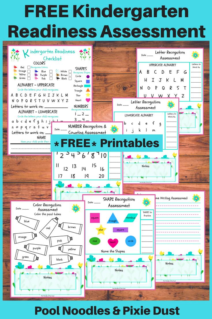 Free Printable Kindergarten Readiness Assessment | Money