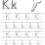Free Printable Letter K Tracing Worksheet!   Tracing