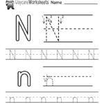 Free Printable Letter N Alphabet Learning Worksheet For