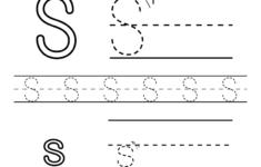 Letter S Preschool Worksheets