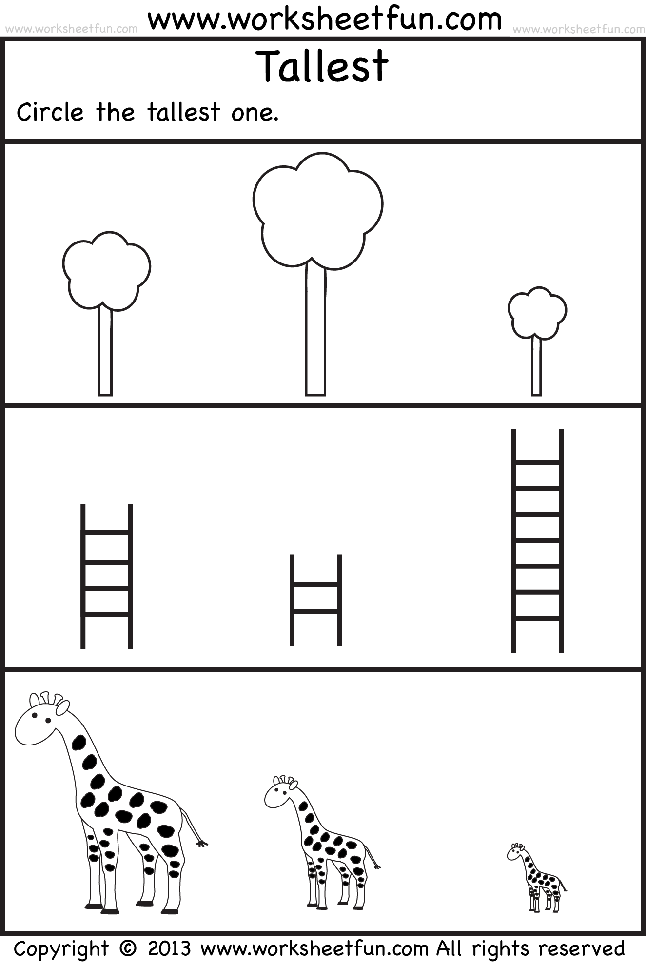 Free Printable Preschool Worksheets | Voorschoolse