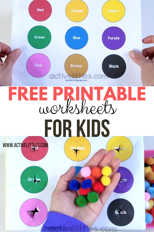 Free Printable Toddler Worksheets - Active Littles