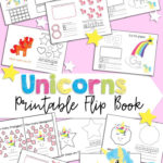 Free Printable Unicorn Themed Flip Book 1 20 Numbers, Colors
