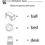 Free Reading Practice Worksheet For Preschool | Reading