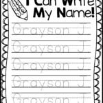 Freebie Friday* Name Handwriting Practice   Mrs. Jones