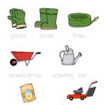 Gardening Tracing Worksheet | Garden Tool Storage, Garden