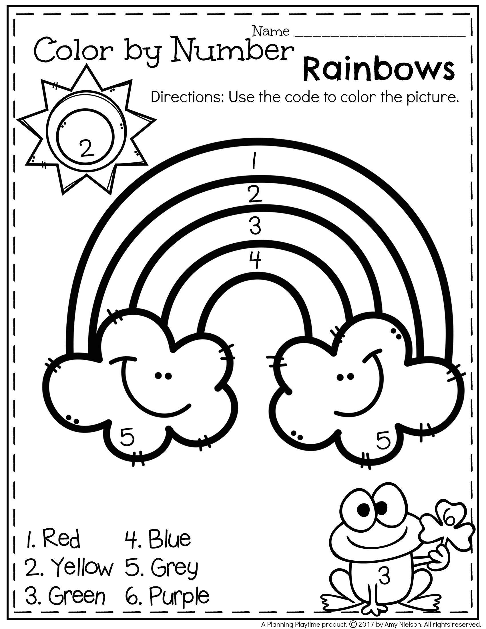 Get Your Free Printable Here! | March Preschool Worksheets
