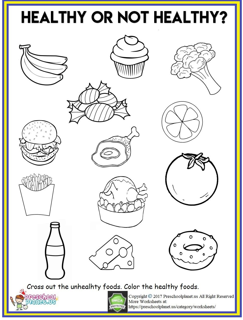 Healthy Food Worksheet | Healthy And Unhealthy Food