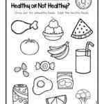 Healthy Foods Worksheet [Free Download] In 2020 | Healthy