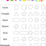 Identify And Color The Correct Shape Worksheet Stock Image
