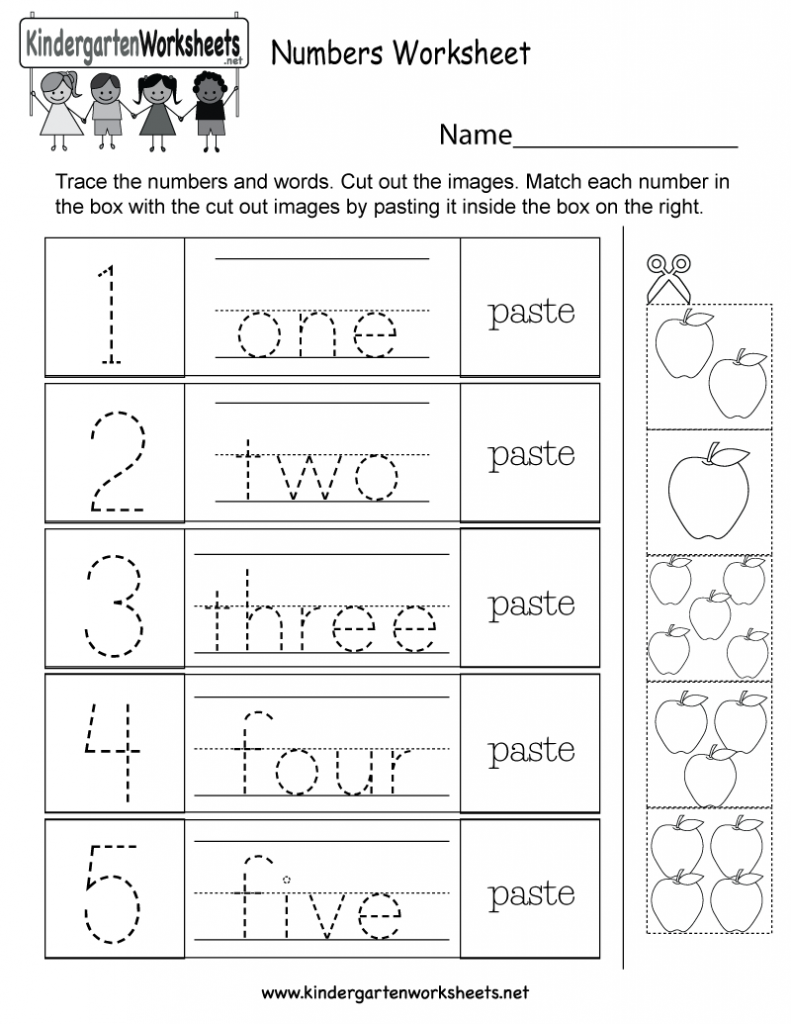 Free Preschool Worksheets Age 3 4 About Numbers ...